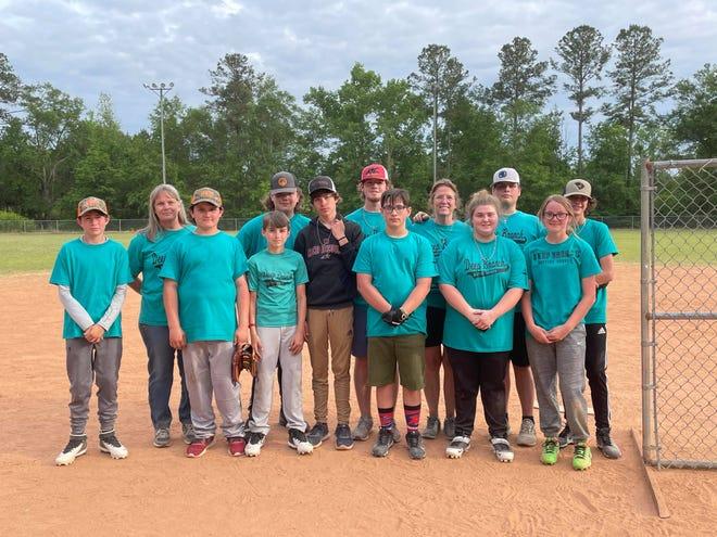 The Deep Branch Baptist youth softball team.