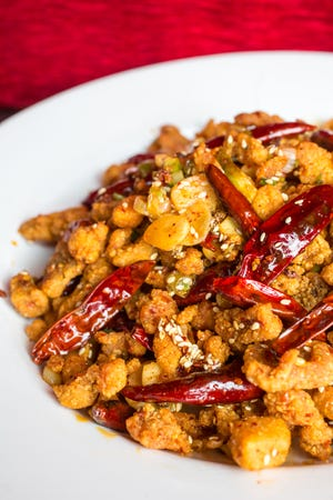 Crispy diced chicken Chongqing style by Hong Kong House