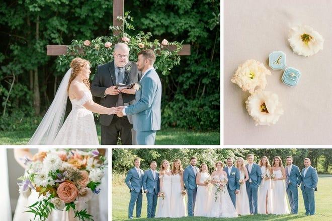 Hannah and Josh Hamilton at their Aug. 15, 2020, wedding