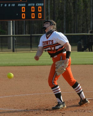 Abby Craver and North Davidson won the Central Carolina Conference softball championship and will have a high seed in the 2-A state playoffs. [Mike Duprez/The Dispatch]
