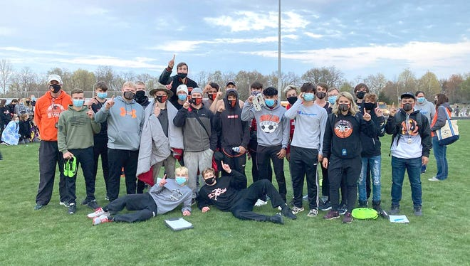 The Quincy Oriole boys track team took their second tournament win of the season, securing the title at the Comstock Invitational