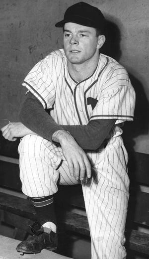 This is an undated photo of Erie native and Strong Vincent High School graduate Jerry Uht, an infielder in the Cleveland baseball system from 1948-1951. Uht died April 25, 2021 at the age of 91. Erie's downtown baseball stadium was named after Uht from 1995 to 2016.