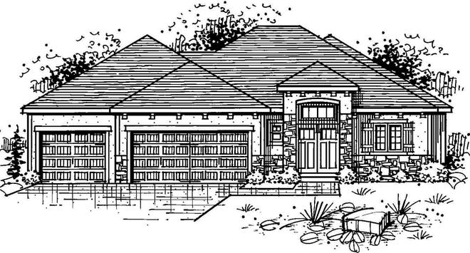 This home in Blue Springs is a reverse 1½-story with four bedrooms, 2½ bathrooms, an office and a three-car garage. It has a chef's kitchen, a butler pantry and a great room with wood floors and a gas fireplace. It's listed at $787,000 and is in the Spring Parade of Homes.