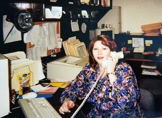Sandye Brown at the District Attorney's Office back in the late 1990s.