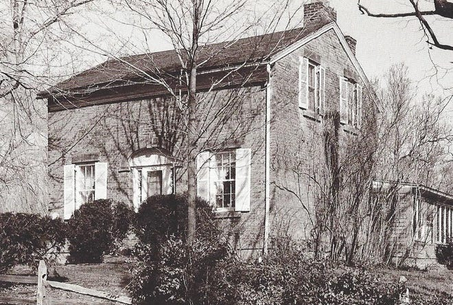 The 1830 Eggleston home (432 Eggleston Road) replaced the original wood structure built by his parents.