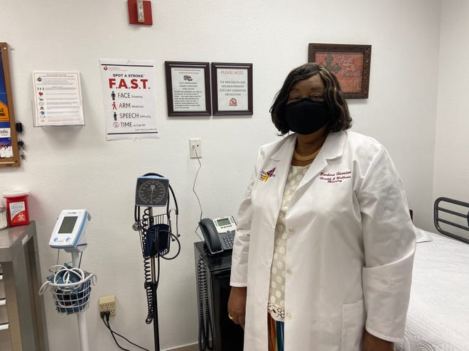 Nurse Barbara Harrison, who leads a health-wellness ministry at New Mt. Zion Missionary Baptist Church in Lakeland, displays  its health education and screening room. Some Polk County hospitals work with churches on stroke education and prevention.