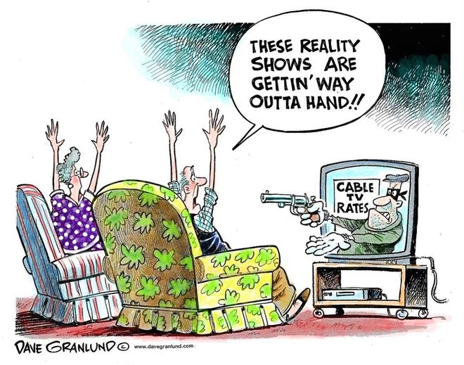 A Dave Granlund cartoon about cable rates