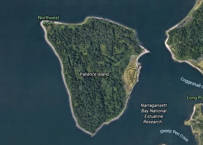 A look at Patience Island in Portsmouth via Google Earth.