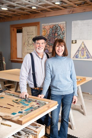 Tom and Priscilla Malone in their Portsmouth studio.