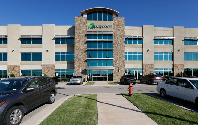 Corporate filings show Chad Richison received more than $211 million in compensation last year as Paycom's president and CEO, but that isn't necessarily the case. Here, Paycom's campus is shown in Oklahoma City.