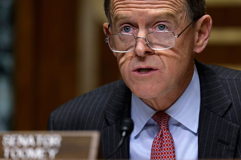 Sen. Pat Toomey, R-Pa., speaks during a Congressional Oversight Commission hearing on Capitol Hill in Washington on Dec. 10, 2020.