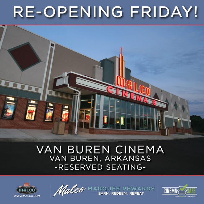 Malco will be re-opening their Van Buren location on April 30.