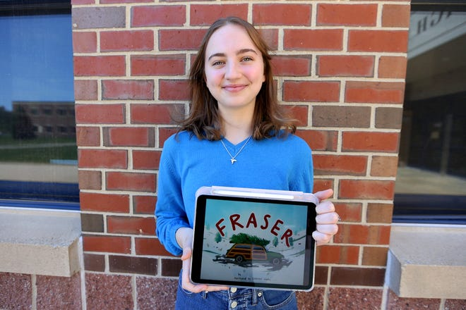 Exeter High School student Catherine Weeks recently illustrated a children's book authored by her former teacher, Dan Provost.