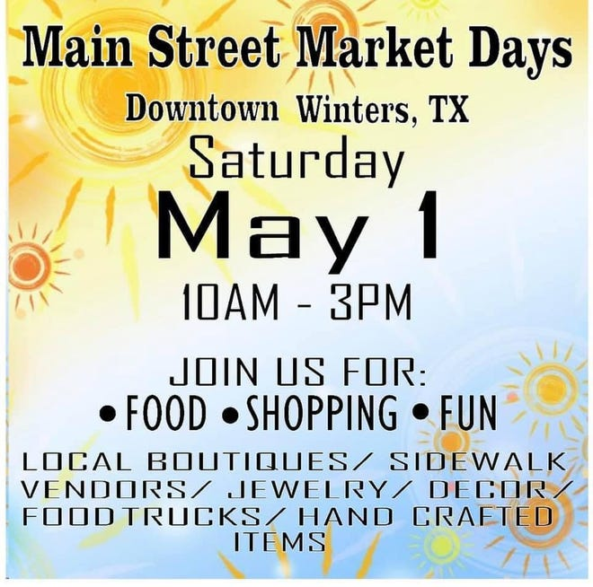 Main Street Market Days will be a new monthly event in Winters. The event is schedule for the 2nd weekend of each month, with the exception of July, when the event will be set up around the Winters VFD fundraiser. This month the event is this Saturday, May 1st.