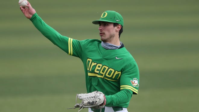 Oregon's Aaron Zavala was the Pac-12 Conference Player of the Year this season and finished with a .392 batting average.