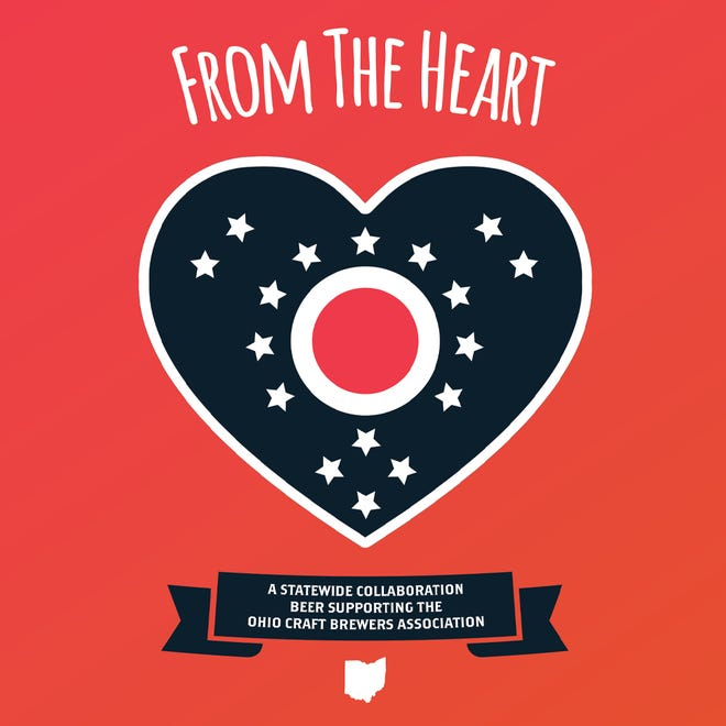 """""""From the Heart"""" is a special collaboration beer that will raise funds for the Ohio Craft Brewers Association, a Columbus-based group that advocates on behalf of craft brewers in the state. The event is planned for American Craft Beer Week (May 10 to 16)."""