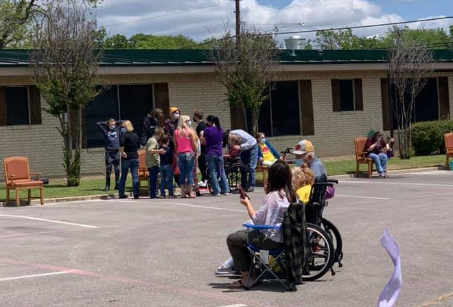 Stephenville Nursing and Rehabilitation hosted an outdoor family reunion for its residents and members of their families on Saturday on the facility grounds. Families were able to visit with the loved ones and enjoy entertainment after months of quarantine due to the COVID-19 virus.