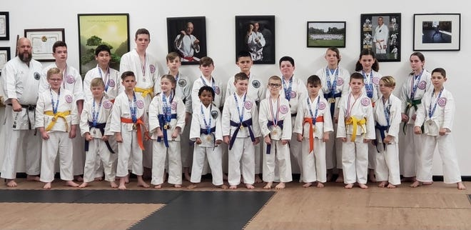Students from Newton's Shorin-Ryu Karate and Kobudo recently competed at the AAU NC State Championships in Raleigh.