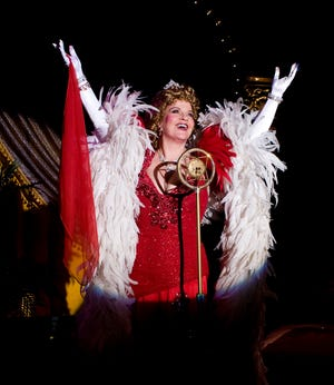 "Kathy Halenda stars in the one-woman show ""Sophie Tucker: Last of the Red Hot Mamas"" at Florida Studio Theatre."