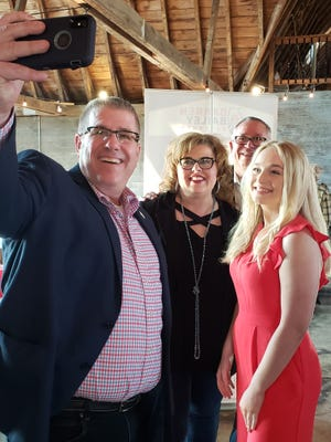 About 100 area residents turned out to meet Illinois State Rep. Darren Bailey at The Stables Saturday. The event was hosted by Jeanna and Gary Moore. Food was provided for the event by The Station in Kewanee.