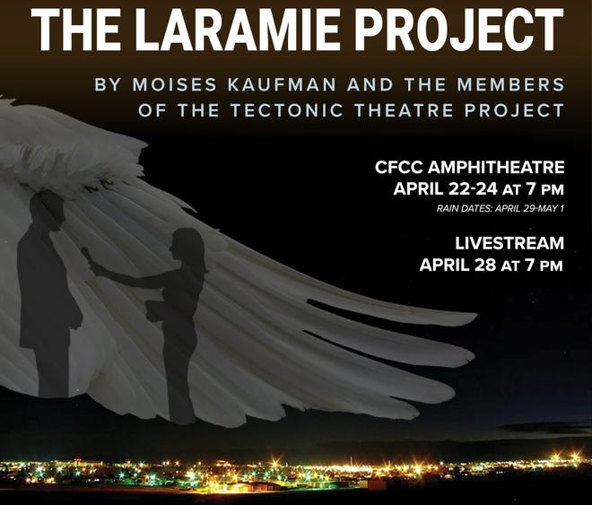 """CFCC's theater department presents its final performance of """"The Laramie Project"""" April 28 as a live stream."""