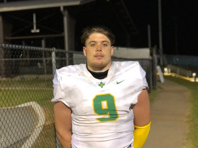 Richmond Senior defensive tackle J.D. Lampley (9) ended his junior season with six Division I scholarship offers, including East Carolina and South Carolina.