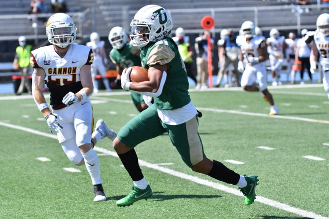 Central Crossing graduate Anthony Lowe was Tiffin's leading receiver this spring. The freshman made 40 receptions as the Dragons went 6-0 to capture their second consecutive Great Midwest Athletic Conference title.