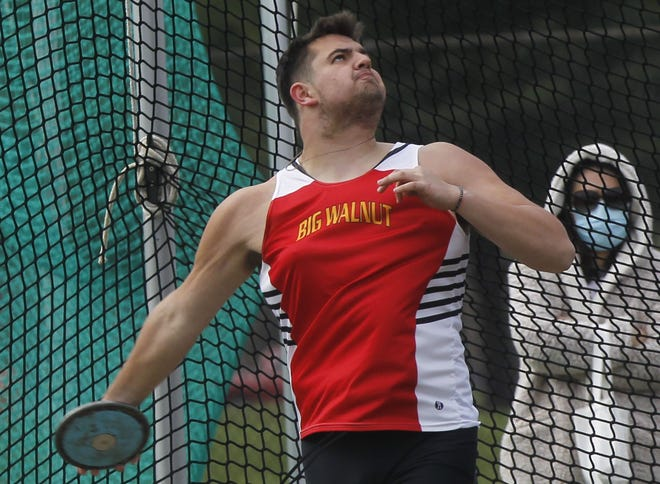 "After previously ""gliding"" through the throwing circle while competing in the shot put, Big Walnut senior Mark Ruffing hopes to quickly master the more challenging ""spin"" technique to generate more momentum and greater distances."