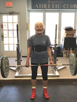 Scituate powerlifter Carol Miles holds the national record in her classification, 85 to 89 year olds.  She hopes to beat her own record at the upcoming competition.