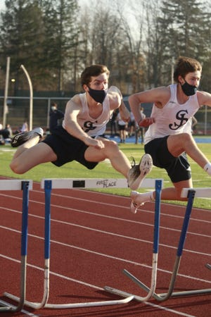 Junior hurdler Jason Bois of Stoneham won a pair of races during the Prep's abbreviated Fall II indoor track season, which, ironically, took place outdoors. The Eagles went 5-0 in the Catholic Conference this spring.