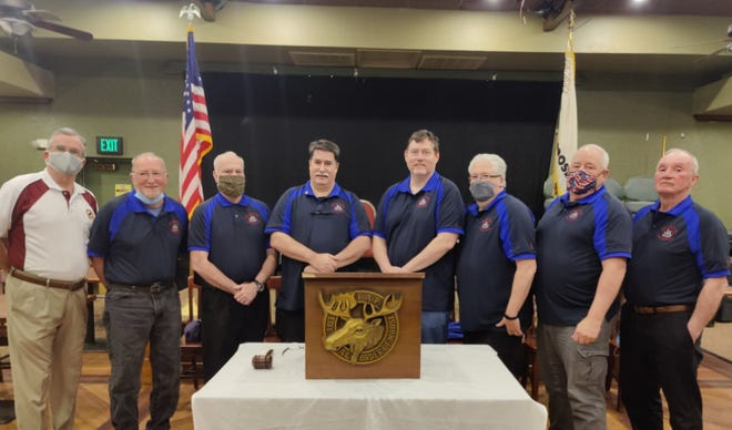 The new board of officers at the Plymouth Moose Lodge.