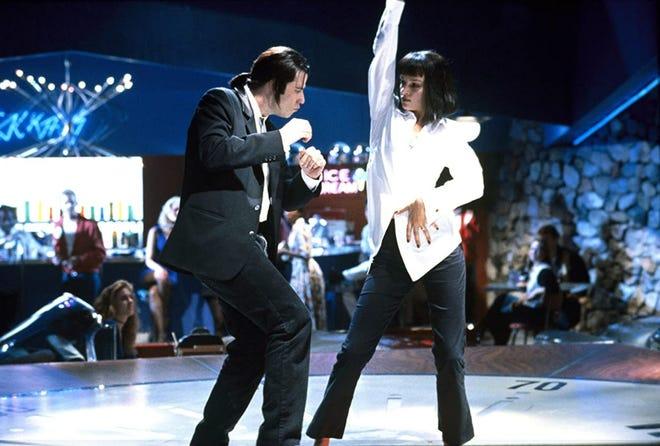 "John Travolta and Uma Thurman star in ""Pulp Fiction."""