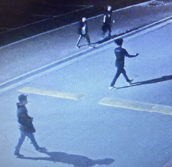Las Cruces police believe four teenagers broke into Las Cruces High School property on Sunday, April 25, 2021. Two of the teen have been identified by police and charged. Anyone with information that can help ID the other teens is asked to call police.