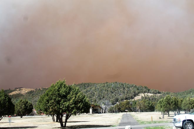 The Three Rivers Fire began on April 26, 2021 from causes unknown at that time. Smoke was seen from Bonita Park in Angus, NM on the afternoon of April 26, 2021.