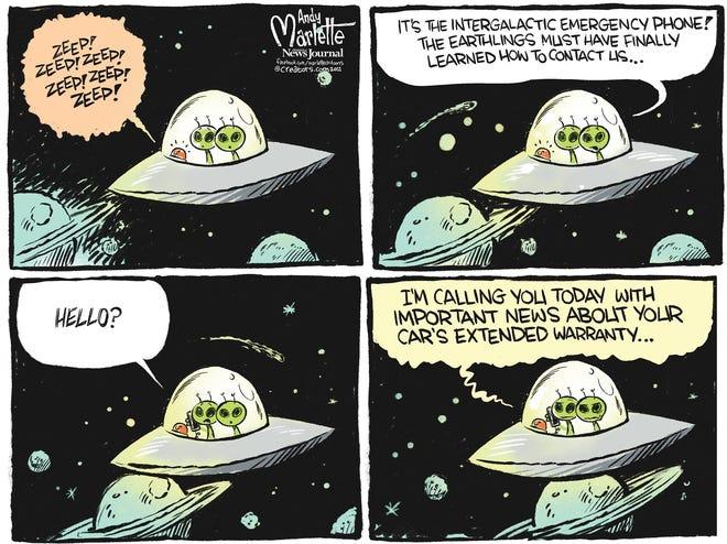 Marlette cartoon: Scam robocalls