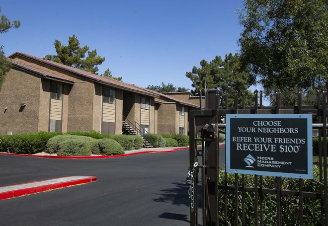 During the pandemic period tracked by The Republic analysis, the owners of the Del Mar Terrace apartments in Phoenix filed 241 eviction notices against renters in the complex.