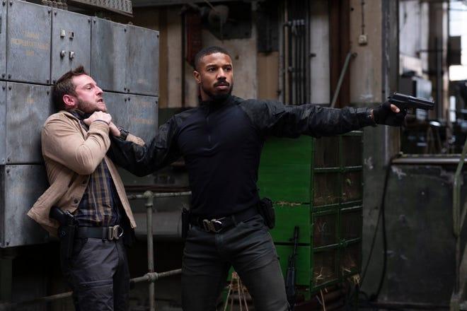 Jamie Bell and Michael B. Jordan in a scene from 'Without Remorse.'
