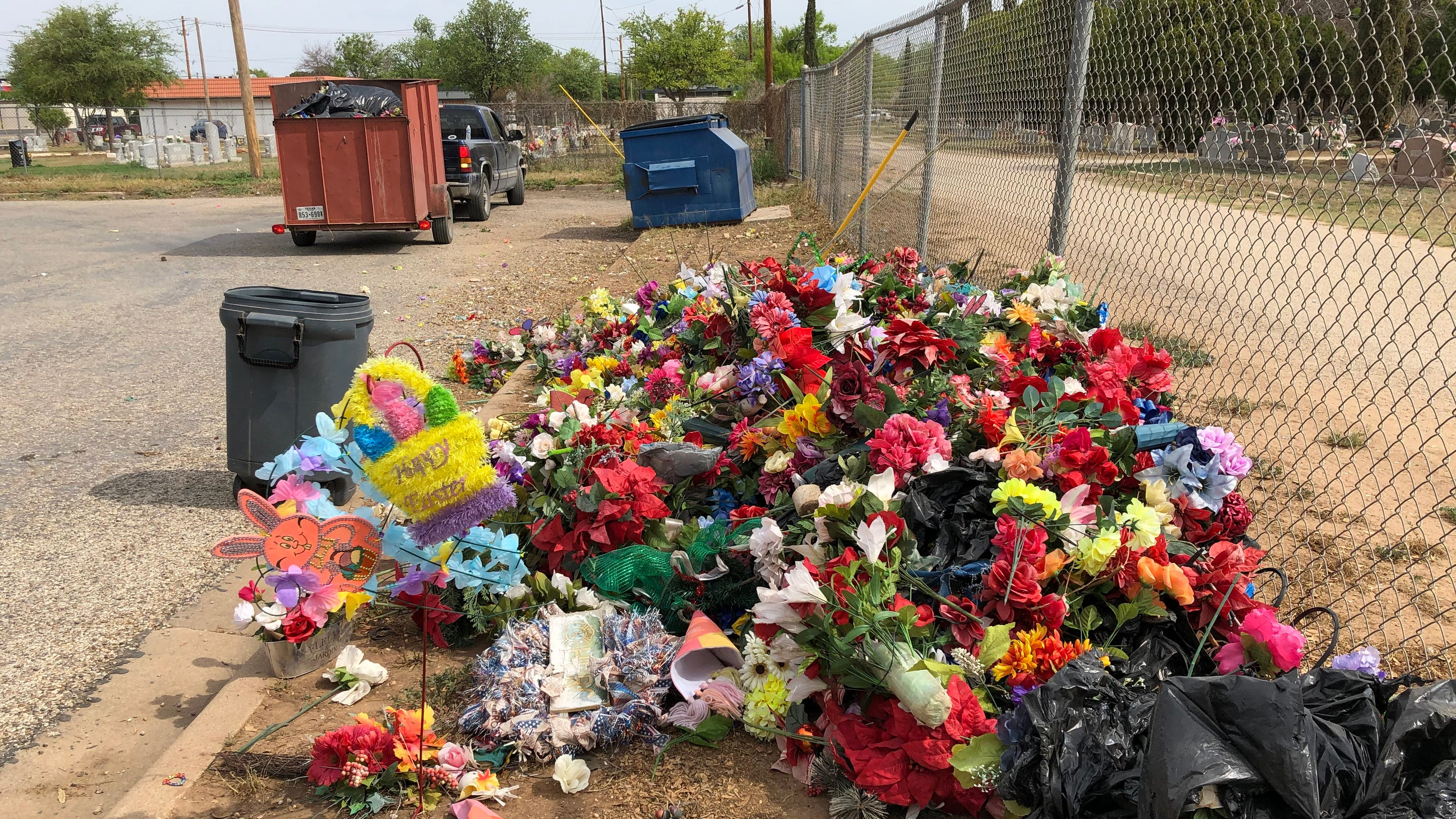 Residents upset after gravesite mementos thrown away during cemetery cleanup in San Angelo