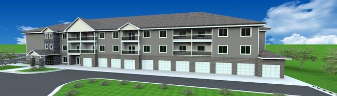 Rendering of Grand Prairie Apartments.