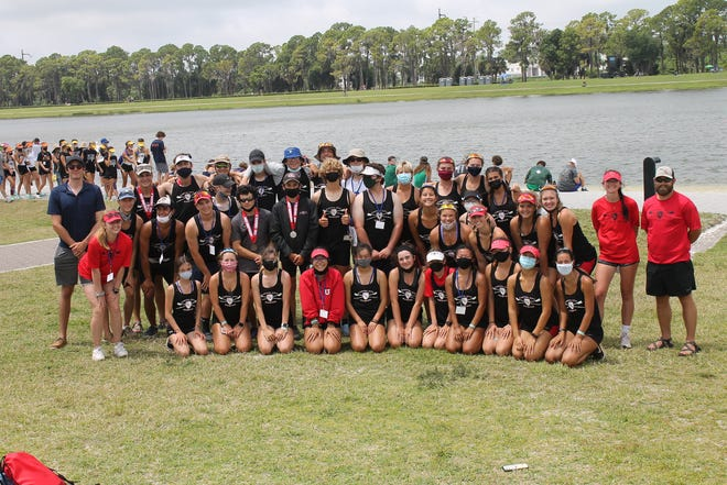 The men's varsity four from Capital City Rowing charged down the course to capture the silver medal in the finals of the Florida Scholastic Rowing Association (FSRA) State Championships.
