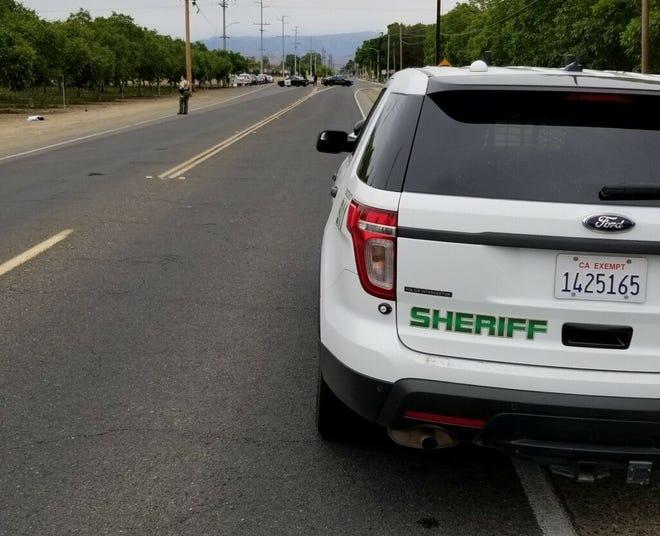 Tulare County Sheriff's Department investigates a suspicious death on Sunday, April 25, 2021.
