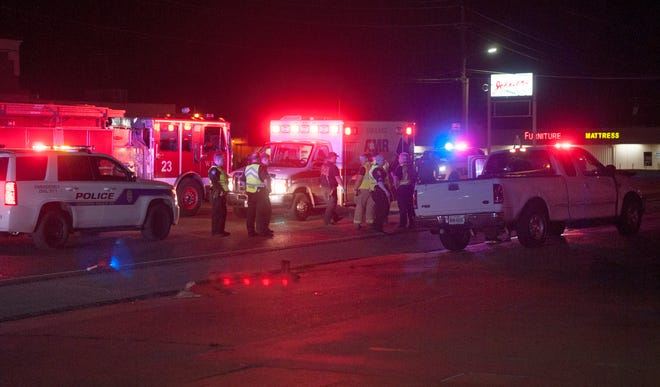 Wichita Falls Police worked the scene of a fatal pedestrian accident Sunday night on Jacksboro Highway.