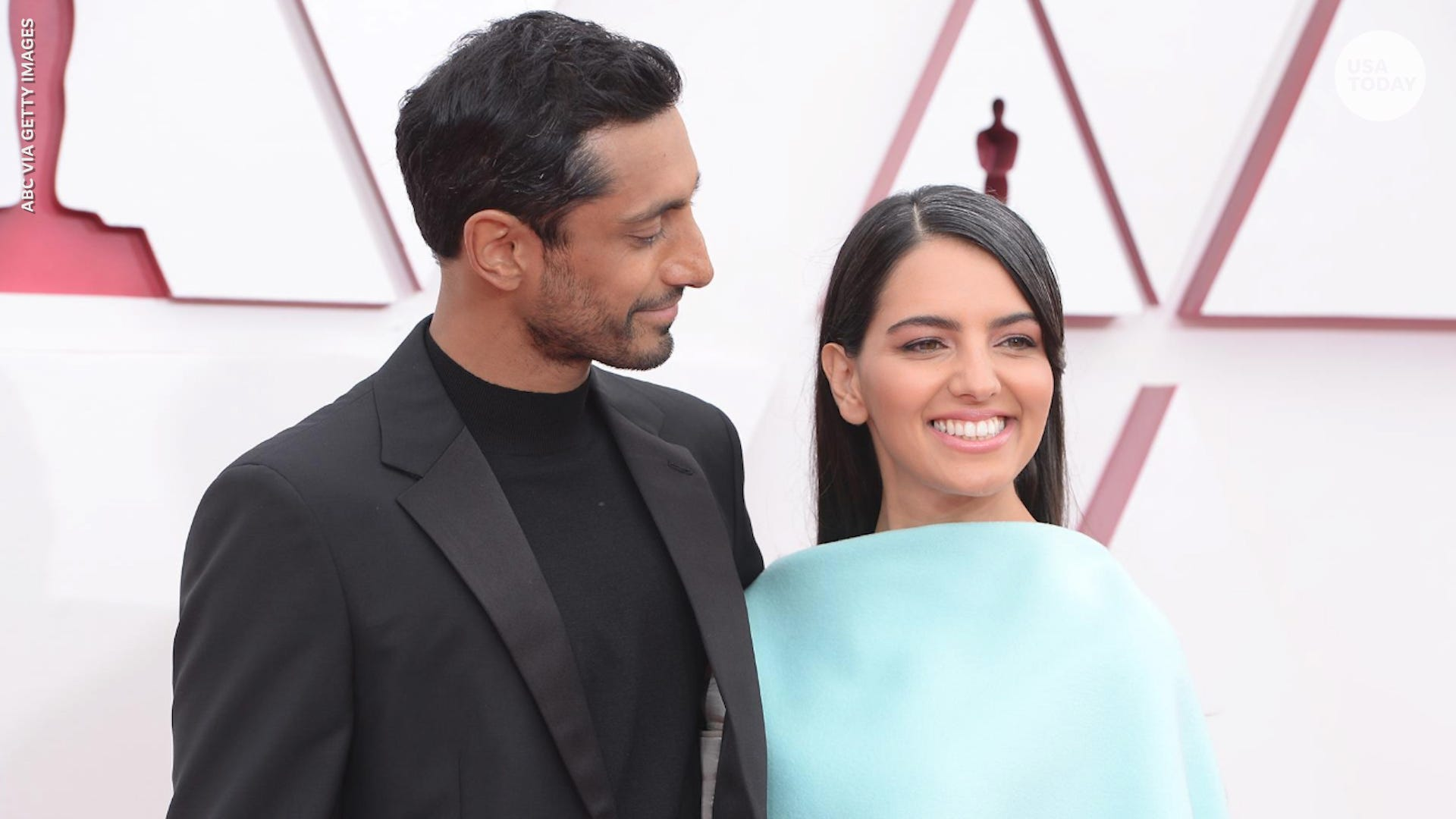 Swoon-worthy moment Riz Ahmed fixed wife's hair on Oscars red carpet