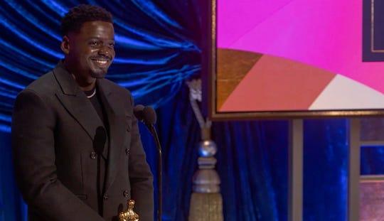 Daniel Kaluuya had audience members blushing during his acceptance speech.