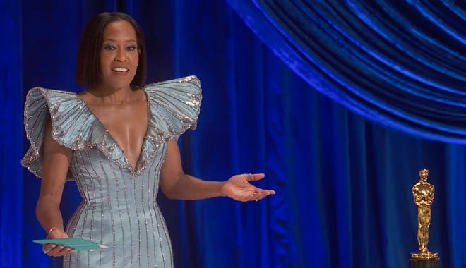 Regina King got frank about current events as she opened the Oscar show.
