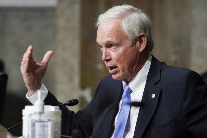 Sen. Ron Johnson, R-Wis., shown here on Tuesday at the Senate Foreign Relations Committee on Capitol Hill in Washington, has questioned the need for mass vaccination for COVID-19. [AP PHOTO/SUSAN WALSH/POOL]