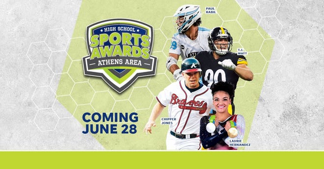hipper Jones, T.J. Watt, Laurie Hernandez, Paul Rabil, join the growing list of legendary athletes presenting at the Athens Area High School Sports Awards.