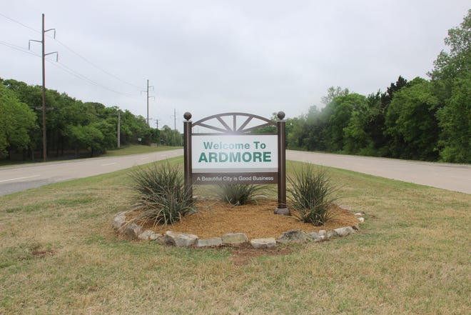 A new welcome to Ardmore sign located on North Commerce greets people as they enter the city.