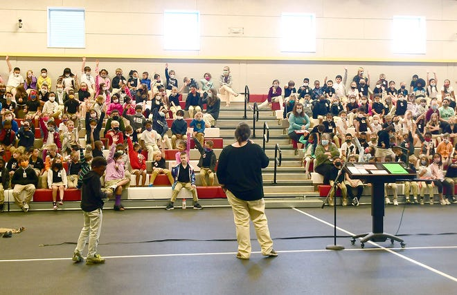 The gym was packed to the rafters with well-behaved, engaged students at Career Day at Parkway Elementary April 21.