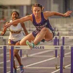Rosepine's Jaclyn Best won first place in the 100-meter low hurdles and was second in the 300 hurdles at the District 5-2A championships held last Wednesday at McKee-McCain Stadium.